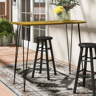 Loya Solid Wood Bar Table by Union Rustic