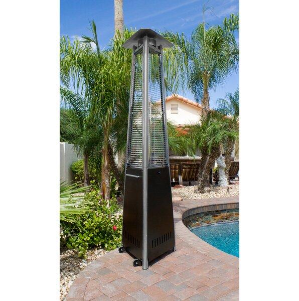 AZ Patio Heaters Commercial Glass Tube 38,000 BTU Propane Patio Heater U0026  Reviews | Wayfair