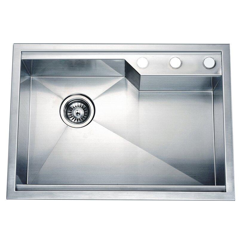 26 38   x 18 88   dual mount square single bowl kitchen sink dawn usa 26 38   x 18 88   dual mount square single bowl kitchen      rh   wayfair com