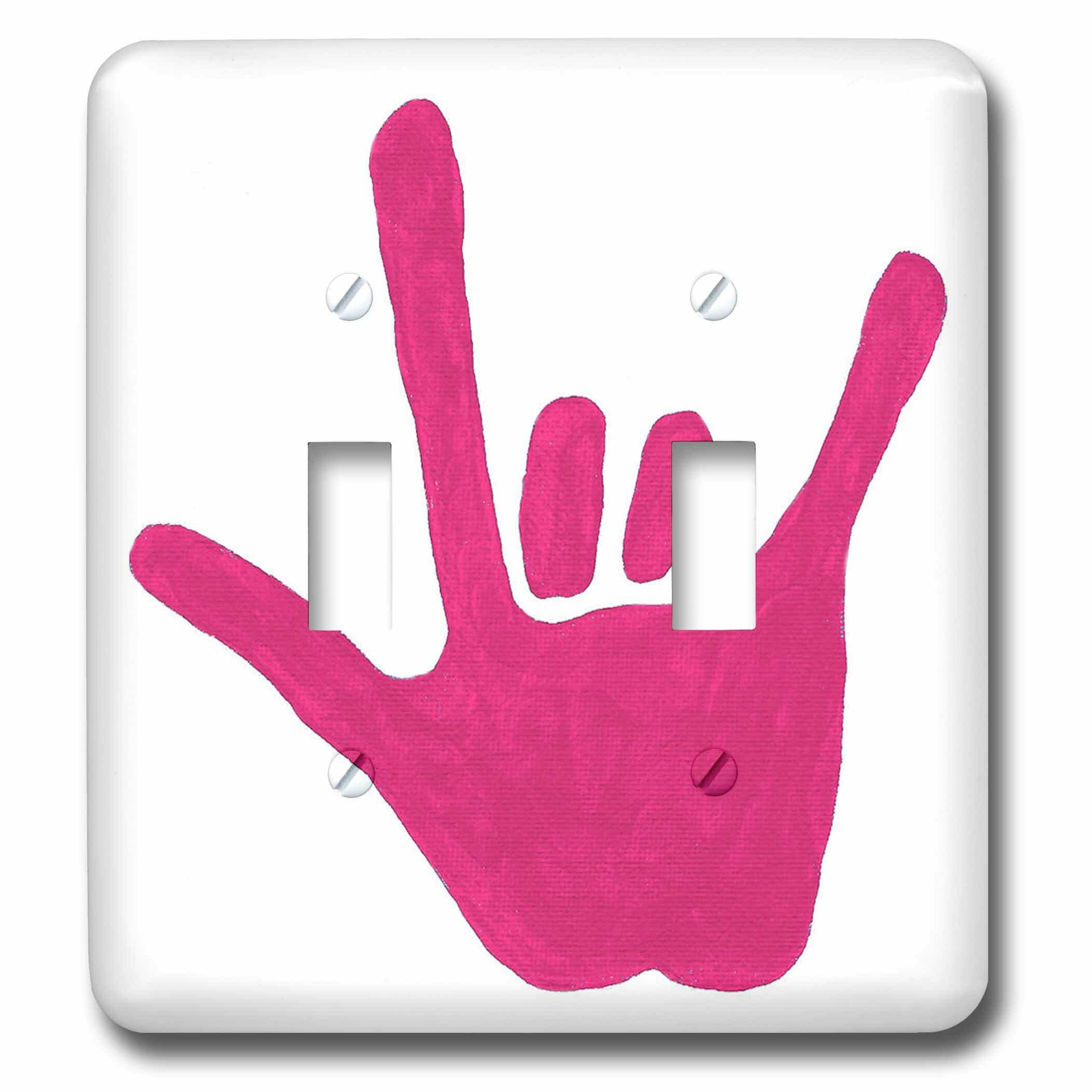 3drose Love Sign Language 2 Gang Toggle Light Switch Wall Plate Wayfair
