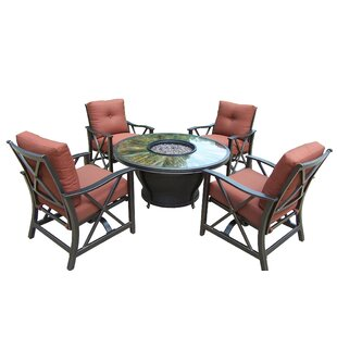 Moonlight 5 Piece Conversation Set with Cushions