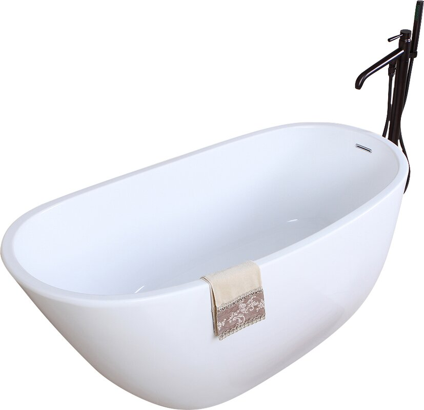 The Best Standalone Bathtubs Transform Your Bathroom Into A Spa. This  Kingston Brass Soaking Bathtub Does It Exactly. The Simple Yet Elegant And  Classic ...