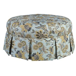 Ava Round Pleated Ottoman by Leffler Home