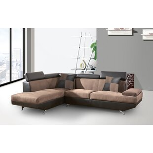 Berardi 2 Tones Coffee Sectional