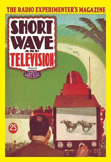 Buyenlarge Short Wave And Television Televised Horse Racing By Hugo Gernsback Vintage Advertisement Wayfair