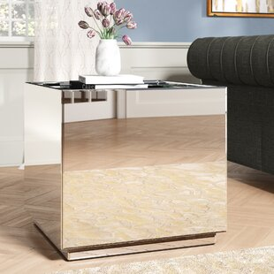 Kelvin Crystal End Table by Rosdorf Park