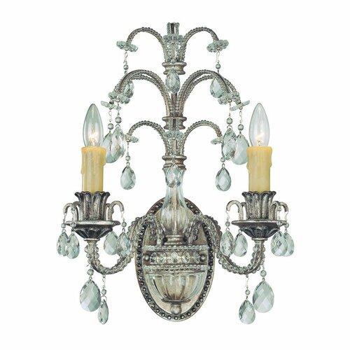 Estabrook 2-Light Candle Wall Light Astoria Grand