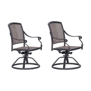 Beaufort Swivel Patio Dining Chair (Set of 2)