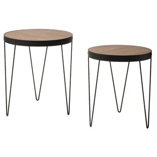Comparison Courtland 2 Piece Nesting Tables By Ivy Bronx
