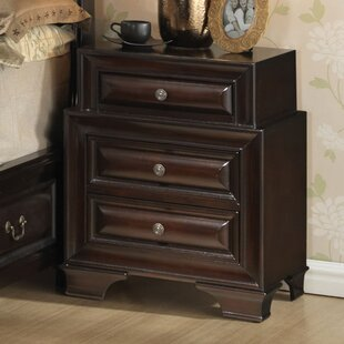 Edwardsville 3 Drawer Nightstand