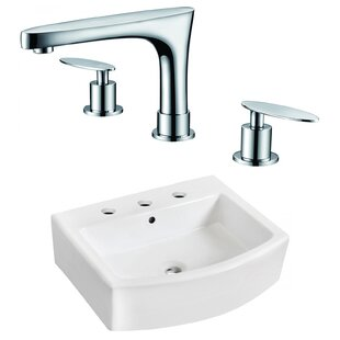 Affordable Price Above Counter Ceramic Rectangular Vessel Bathroom Sink with Faucet and Overflow ByRoyal Purple Bath Kitchen