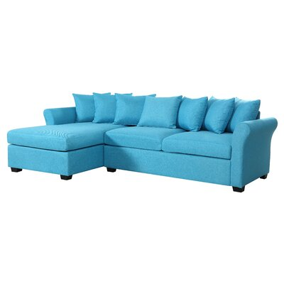 Aeryn Sectional Upholstery: Blue by Beachcrest Home