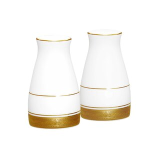 Price Check Crestwood Gold 3.25 Salt & Pepper Shaker Set By Noritake