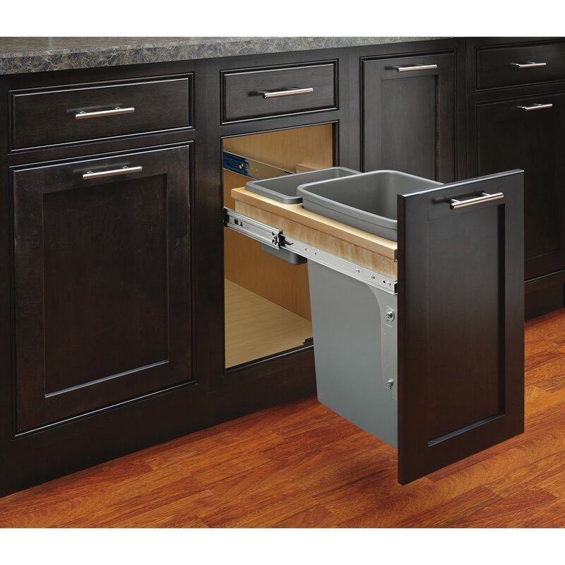 Rev A Shelf Top Mount 8 75 Gallon Pull Out Under Counter Trash Can Wayfair
