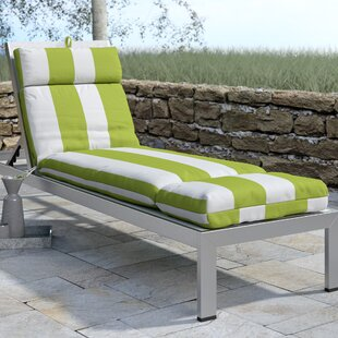 Indoor/Outdoor Striped Chaise Lounge Cushion