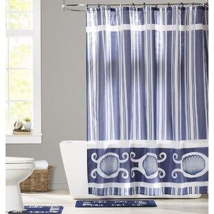 Milania 3 Piece Shower Curtain Set
