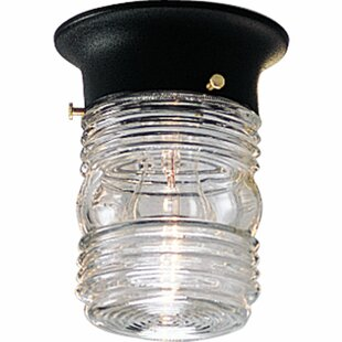 Best Reviews Jacob Outdoor LED Flush Mount By Winston Porter