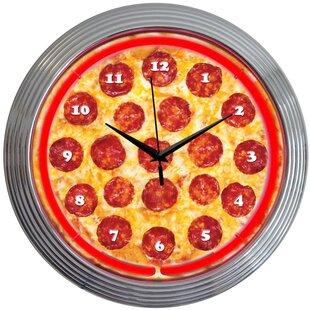 15 Pizza Neon Clock by Neonetics