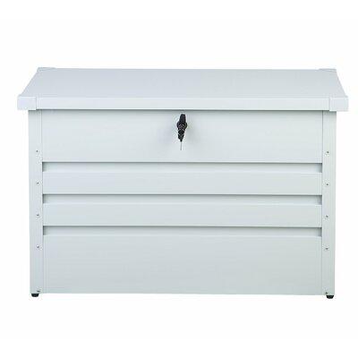 Cebrosa Outdoor 79 Gallon Metal Deck Box Beliani Color: White