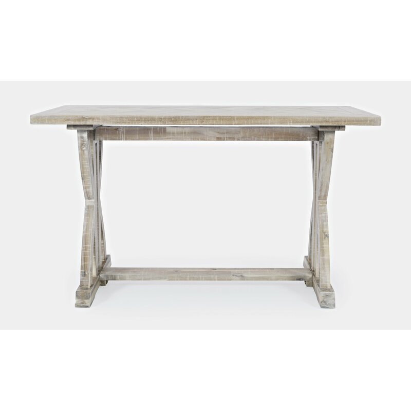 Rustic and distressed vintage style console table.