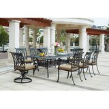 Melchior 9 Piece Rectangular Dining Set with Cushions