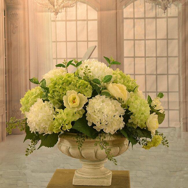 floral home decor orchid floral design wayfair.htm floral home decor hydrangea floral arrangement in vase   reviews  home decor hydrangea floral arrangement