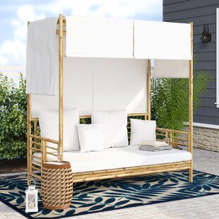 Aubrie Canopy Daybed with Pillows by Beachcrest Home