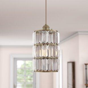 Baxley 1-Light Crystal Pendant by Laurel Foundry Modern Farmhouse