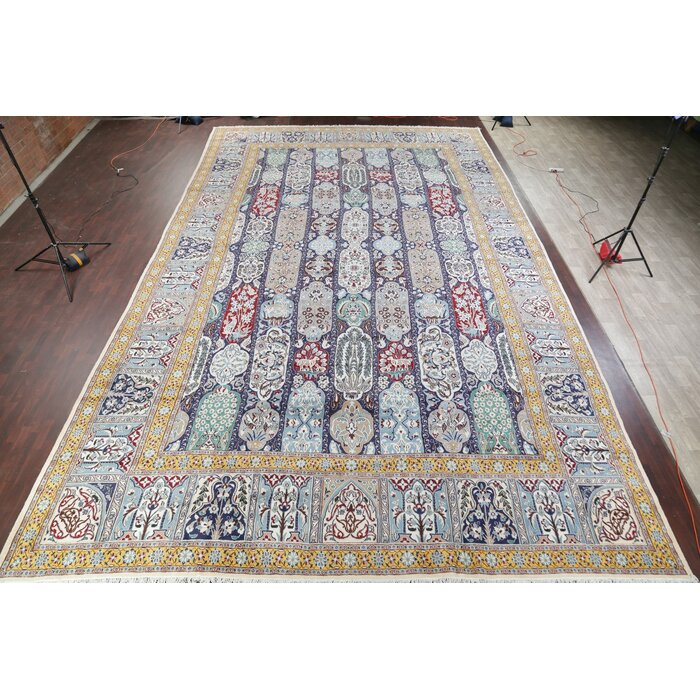 Animal Pictorial Nain Extra Large Persian Rug Oriental Wool Silk Carpet 26 0 X16 1