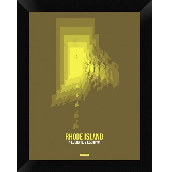 Naxart Rhode Island Radiant Map 1 Framed Graphic Art Print On Canvas Wayfair