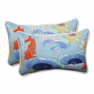 Lotus Lake Indoor/Outdoor Lumbar Pillow (Set of 2)