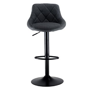 Lilian Industrial Adjustable Height Swivel Bar Stool