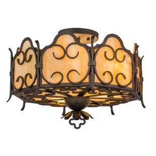 Meyda Tiffany Radha 3-Light Semi Flush Mount