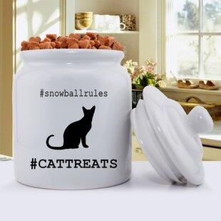 Hashtag Silhouette Pet Treat Jar