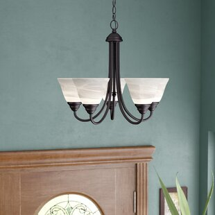 Eichelberger 5-Light Shaded Chandelier by Charlton Home
