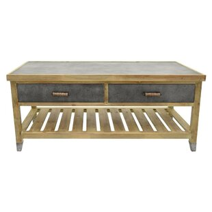 Aslan Wooden Coffee Table with Storage