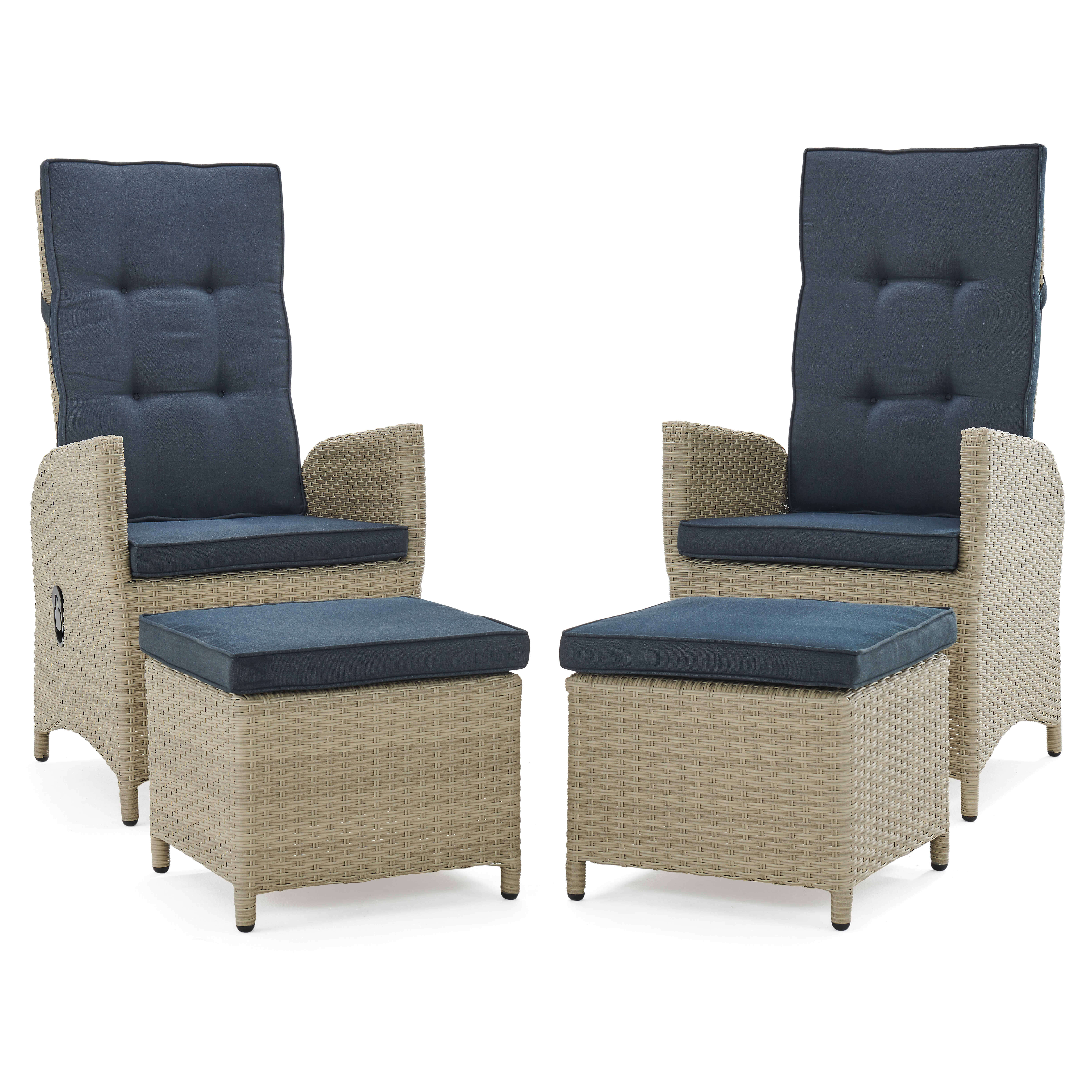 Picture of: Highland Dunes Pangburn Haven All Weather Outdoor Recliner Patio Chair With Cushions And Ottoman Reviews Wayfair