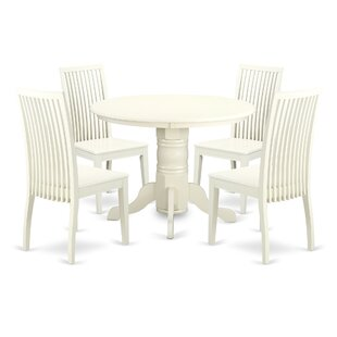 Sherlock 5 Piece Breakfast Nook Solid Wood Dining Set