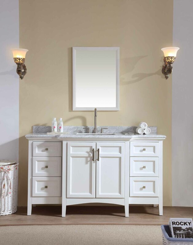 lebanon 60 single bathroom vanity set