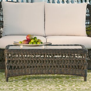 Elyse Wicker Coffee Table by Bay Isle Home No Copoun