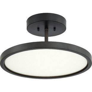 Affordable Zabel 1-Light LED Semi Flush Mount By Orren Ellis
