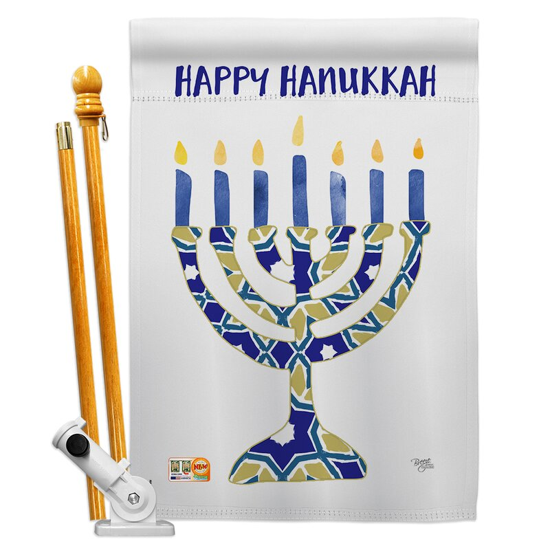 Breeze Decor Hanukkah Menorah Impressions Decorative 2 Sided Polyester 40 X 28 In Flag Set Wayfair