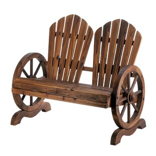 Millwood Pines Terrio Wagon Wheel Couple Solid Wood Adirondack Chair