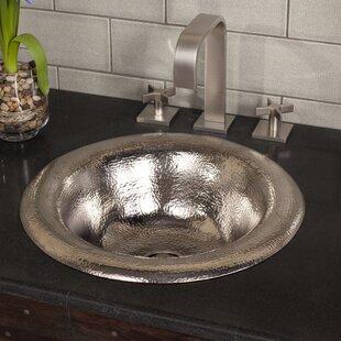 Native Trails, Inc. Maestro Metal Circular Drop-In Bathroom Sink
