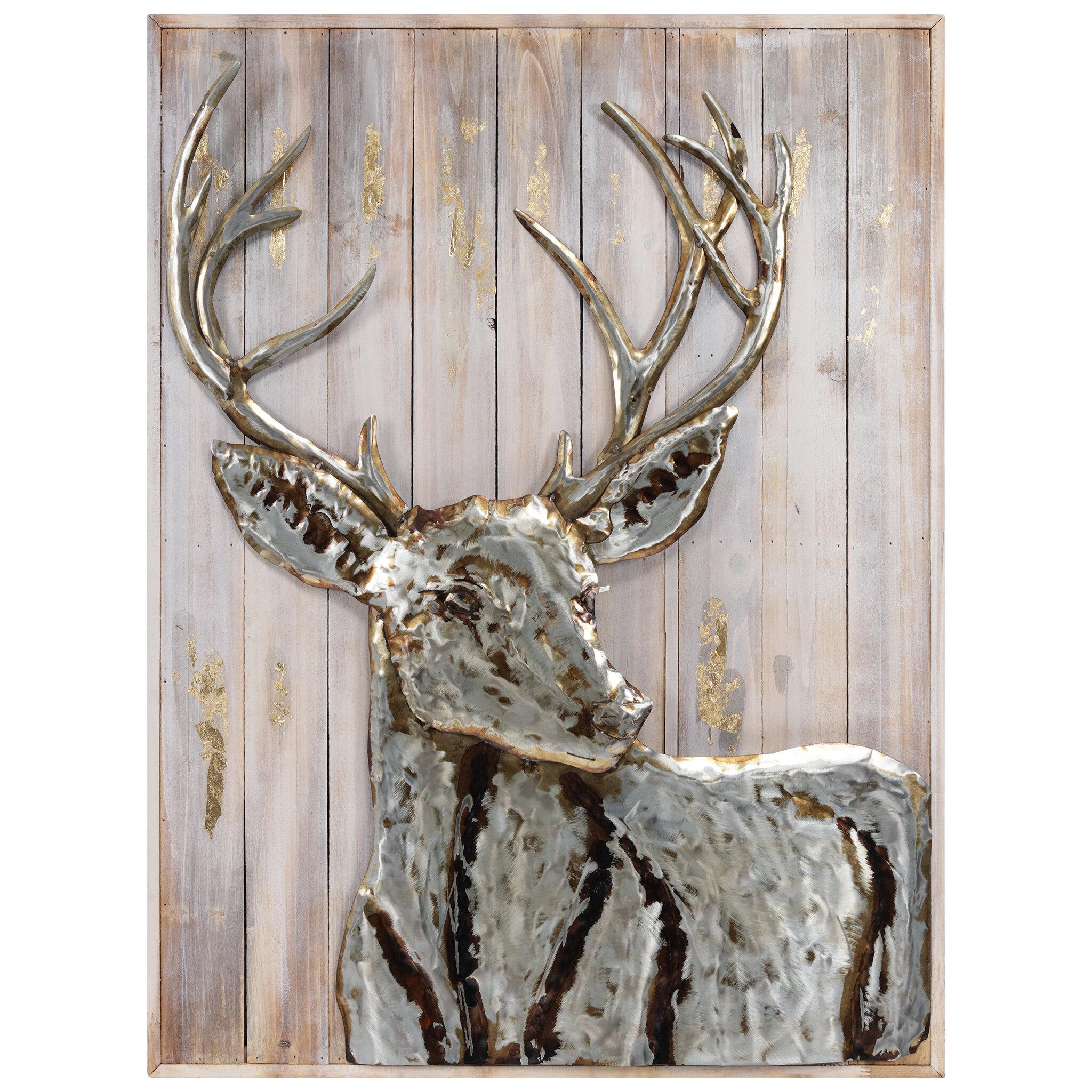 Millwood Pines Deer 1 Unframed Print On Metal Reviews Wayfair
