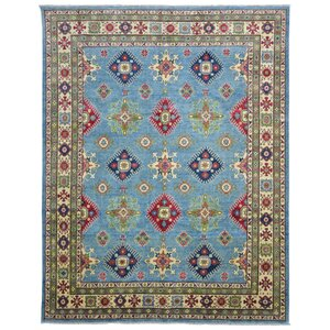 Roslyn Traditional Oriental Hand Woven Wool Blue Area Rug