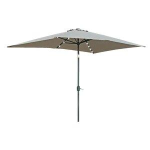Destefano 10' X 6.5' Rectangular Lighted Umbrella