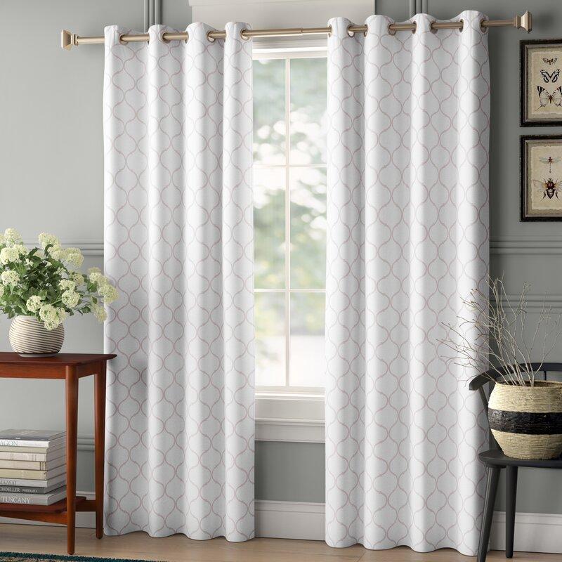 Ellenton Geometric Blackout Thermal Grommet Single Curtain Panel Reviews Birch Lane