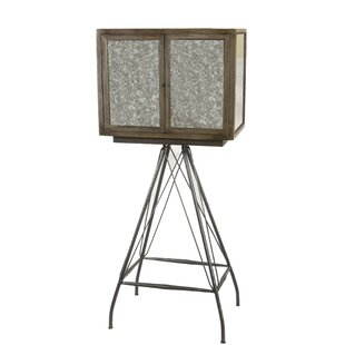Tenney Mirrored Wine Bar Cabinet by Williston Forge