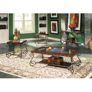 Astoria Grand Carlton 4 Piece Coffee Table Set